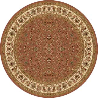 Home Dynamix Golden Age 5 x 5 Round Dusty Rose 6228 6228DR