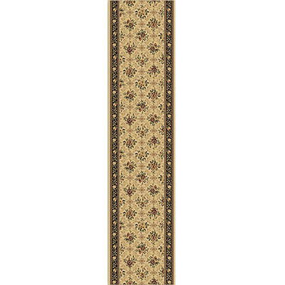 Home Dynamix Monarchy Runner Ivory Brown 7712-122