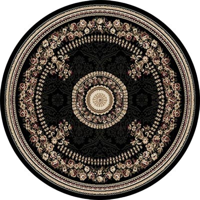 Home Dynamix Optimum 8 ft Round Black 11023 11023-450