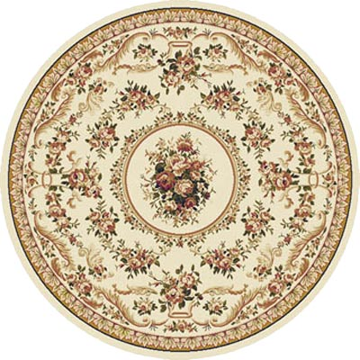 Home Dynamix Optimum 8 ft Round Ivory 11012 11012-100