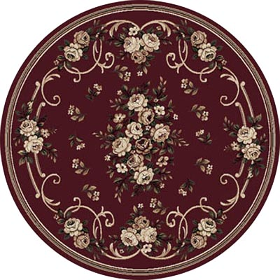 Home Dynamix Optimum 8 ft Round Red 11028 11028-200