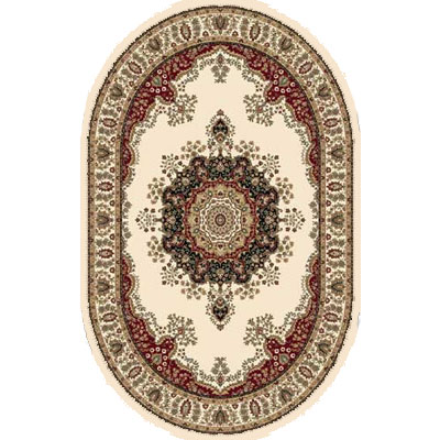 Home Dynamix Regency 7 x 10 Oval Ivory 8329