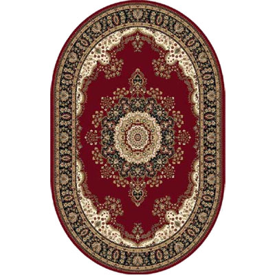 Home Dynamix Regency 7 x 10 Oval Red 8329