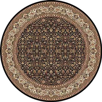 Home Dynamix Regency 8 ft Round Black 8302 8302-450