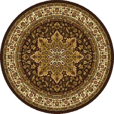 Home Dynamix Royalty 5 ft Round Brown 8083 8083-500