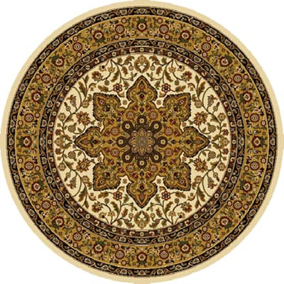 Home Dynamix Royalty 5 ft Round Ivory 8083 8083-100