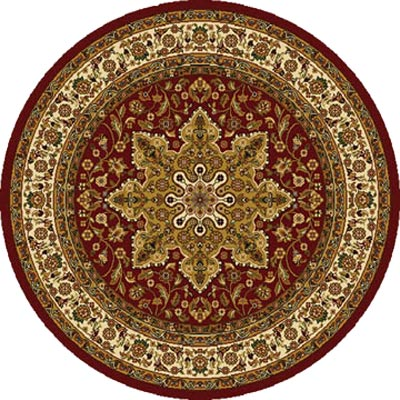 Home Dynamix Royalty 5 ft Round Red 8083 8083-200