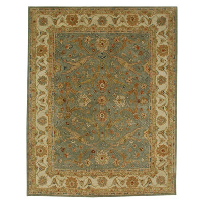 Jaipur Rugs Inc. Ananda 8 x 11 Atman Sea Green/Dark Ivory AN02