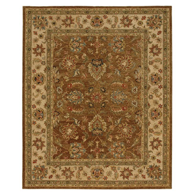 Jaipur Rugs Inc. Ananda 8 x 11 Tapas Gold Brown/Dark Ivory AN08