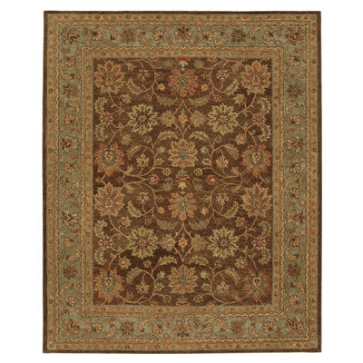 Jaipur Rugs Inc. Ananda 8 x 11 Vinyasa Tobacco/Sea Green AN09