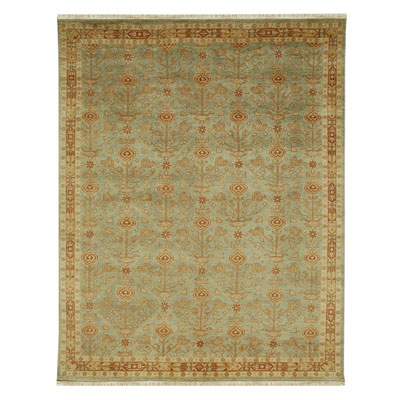 Jaipur Rugs Inc. Ankar 9 x 12 Bahar Celadon Green/Ginger Brown AK03