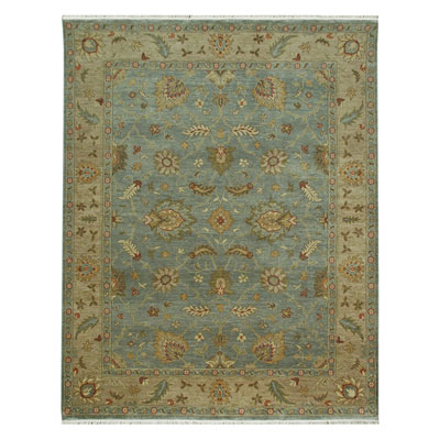Jaipur Rugs Inc. Ankar 10 x 14 Cennet Sea Blue/Dark Ivory AK07