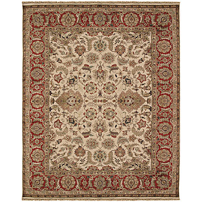 Jaipur Rugs Inc. Atlantis 8 x 10 Taj Dark Ivory/Red AL10