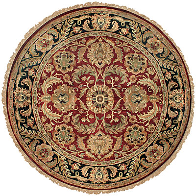 Jaipur Rugs Inc. Atlantis 4 Round Magnolia Red Ebony JC104R103102