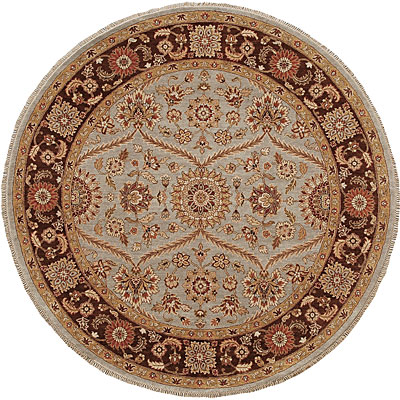 Jaipur Rugs Inc. Atlantis 10 Round Pani Ice Blue/Tobacco AL05
