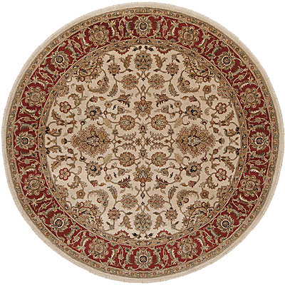 Jaipur Rugs Inc. Atlantis 10 Round Taj Dark Ivory/Red AL10