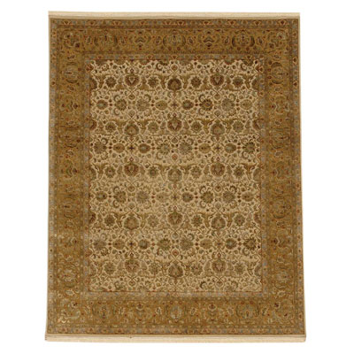 Jaipur Rugs Inc. Aurora 8 x 10 Celeste Medium Ivory/Royal Gold