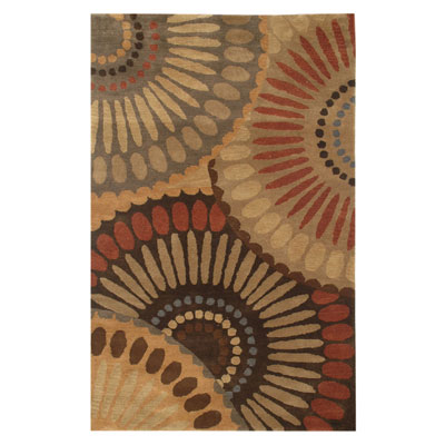 Jaipur Rugs Inc. Blue 5 x 8 In Bloom Bronze Green/Mushroom BL01