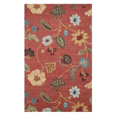 Jaipur Rugs Inc. Blue 5 x 8 Garden Party Navajo Red/Marigold BL05