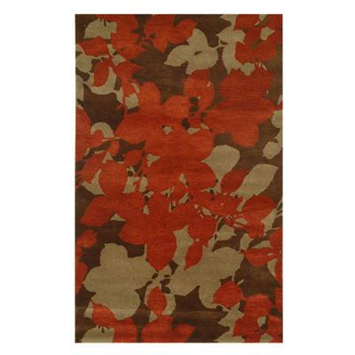 Jaipur Rugs Inc. Blue 8 x 11 Orchid Cocoa Brown/Red Ochre BL08