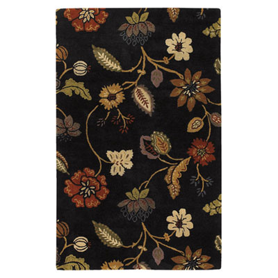 Jaipur Rugs Inc. Blue 4 x 6 Garden Party Ebony/Ebony BL11