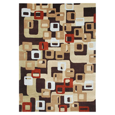 Jaipur Rugs Inc. Blue 4 x 6 Boxed In Deep Espresso/Deep Espresso BL17