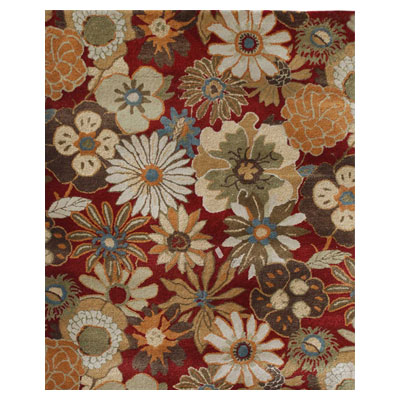 Jaipur Rugs Inc. Blue 8 x 11 Blossom Red/Red BL21
