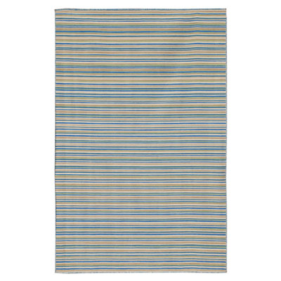 Jaipur Rugs Inc. Coastal Living Dhurries 4 x 6 Malibu Pastel Blue/Pastel Blue