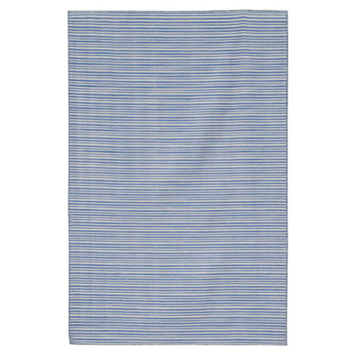 Jaipur Rugs Inc. Coastal Living Dhurries 4 x 6 Malibu Orchid Blue/Orchid Blue