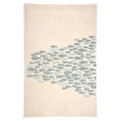 Jaipur Rugs Inc. Coastal Living Hand-Tufted 8 x 11 Schooled White/White CH02