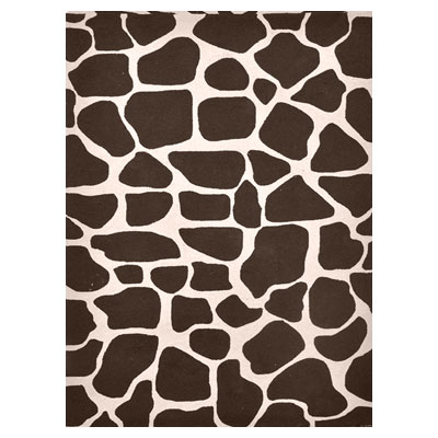 Jaipur Rugs Inc. Coastal Living Indoor-Outdoor 5 x 8 Spot Check Chocolate/White