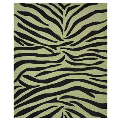 Jaipur Rugs Inc. Coastal Living Indoor-Outdoor 4 x 6 Party Lines Ebony/White CI02