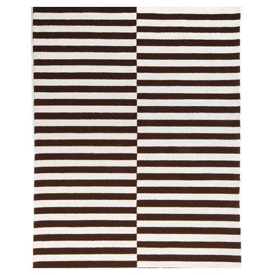 Jaipur Rugs Inc. Coastal Living Indoor-Outdoor 5 x 8 Line Dance Chocolate/White
