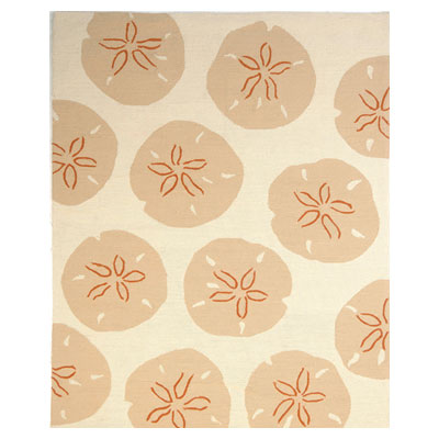 Jaipur Rugs Inc. Coastal Living Indoor-Outdoor 4 x 6 Sand Dollar Dark Ivory/Dark Ivory CI06