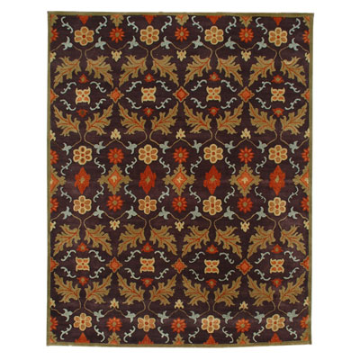 Jaipur Rugs Inc. Dhalia 8 x 11 Iris Coffee/Bronze Green DH02