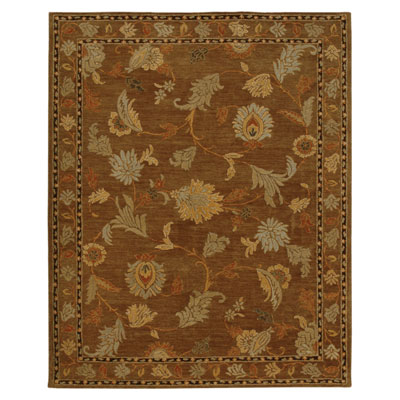 Jaipur Rugs Inc. Dhalia 8 x 11 Peony Medium Brown/Medium Brown DH05