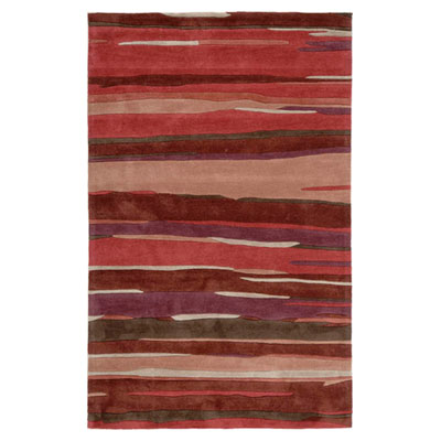 Jaipur Rugs Inc. Fusion 8 x 10 Engrained Deep Red/Deep Red