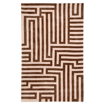 Jaipur Rugs Inc. Fusion 8 x 10 Labyrinth Beige/Brown FN02
