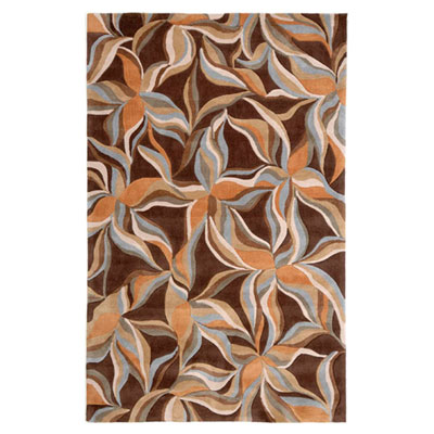 Jaipur Rugs Inc. Fusion 8 x 10 Star Jasmine Brown/Sun Orange FN05