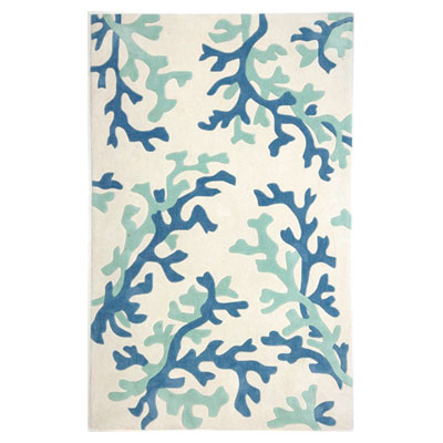Jaipur Rugs Inc. Fusion 8 x 10 Coral Fixation White/Sea Green FN07