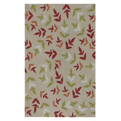 Jaipur Rugs Inc. Grant Design Indoor/Outdoor 5 x 8 Fern Around Beige/Beige GD04