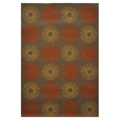 Jaipur Rugs Inc. Grant Design Indoor/Outdoor 8 x 10 Star Power Cocoa Brown/Cocoa Brown GD09