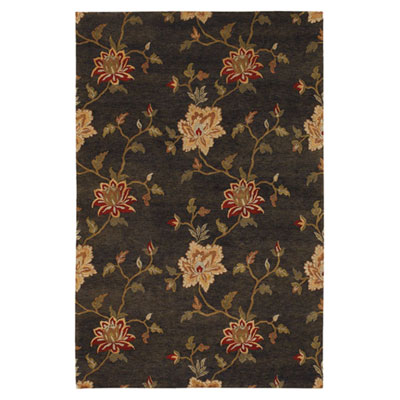 Jaipur Rugs Inc. J2 6 x 9 Frangi Deep Charcoal/Bronze Green J222