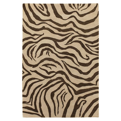 Jaipur Rugs Inc. J2 6 x 9 Kalaiya White Ice/Dark Brown J227