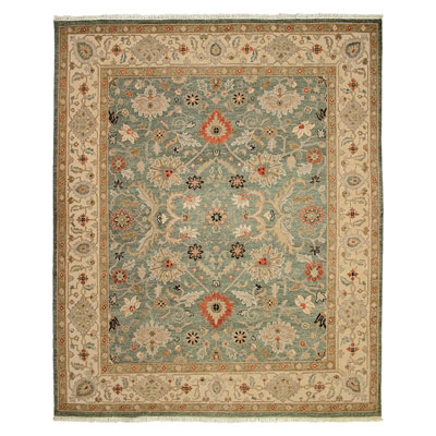 Jaipur Rugs Inc. Jaimak 10 x 14 Kolos Sea Green/Dark Ivory JM09