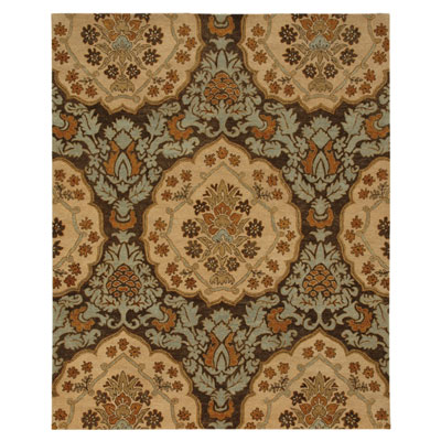 Jaipur Rugs Inc. Lotus 4 x 6 Rowan Cocoa Brown/Dark Ivory LT03