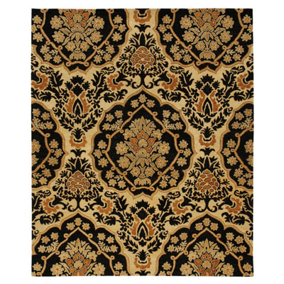 Jaipur Rugs Inc. Lotus 4 x 6 Rowan Ebony/Light Gold LT04