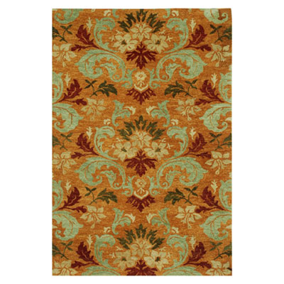 Jaipur Rugs Inc. Lotus 4 x 6 Surangi Pumpkin/Grape Green LT06