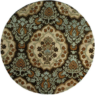 Jaipur Rugs Inc. Lotus 6 Round Rowan Cocoa Brown/Dark Ivory LT03