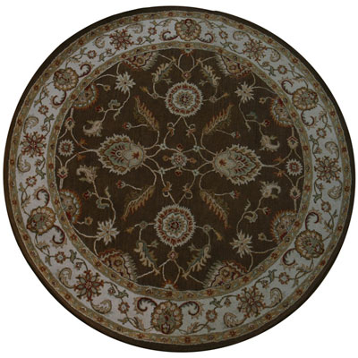 Jaipur Rugs Inc. Mythos 10 Round Maia Cocoa Brown/Dark Ivory MY01
